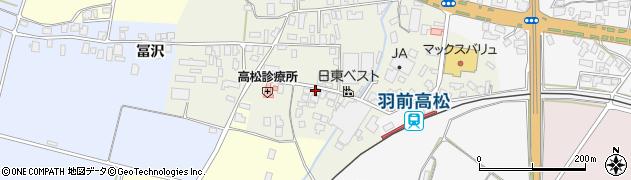 山形県寒河江市高松130周辺の地図
