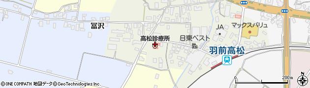 山形県寒河江市高松117周辺の地図