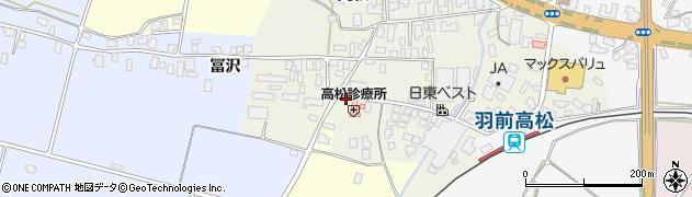 山形県寒河江市高松113周辺の地図