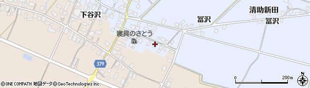 山形県寒河江市清助新田125周辺の地図
