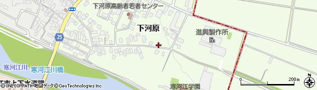 山形県寒河江市下河原58周辺の地図