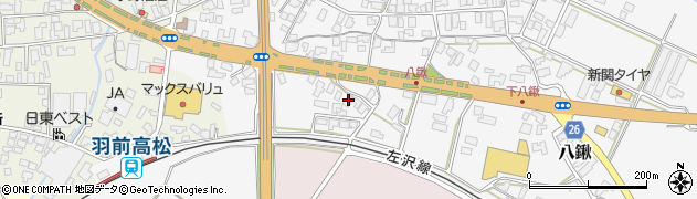 山形県寒河江市八鍬572周辺の地図