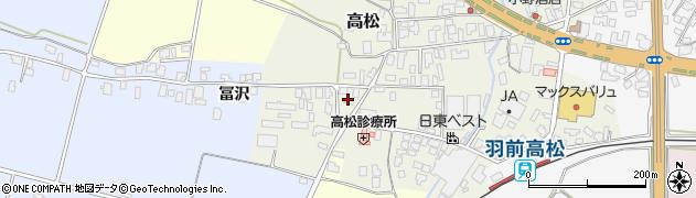 山形県寒河江市高松46周辺の地図
