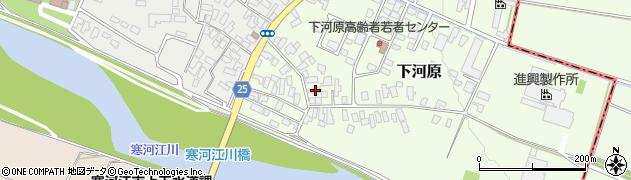 山形県寒河江市下河原212周辺の地図