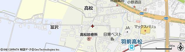山形県寒河江市高松100周辺の地図