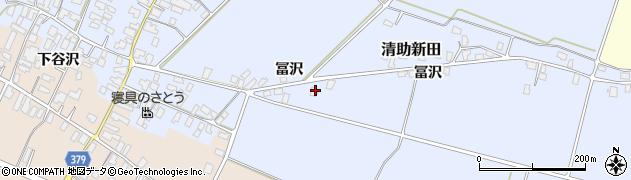山形県寒河江市清助新田763周辺の地図