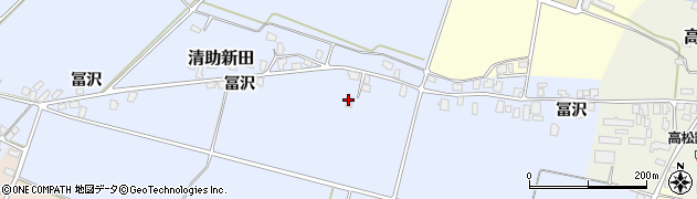 山形県寒河江市清助新田249周辺の地図