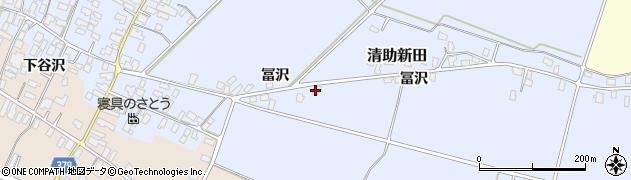 山形県寒河江市清助新田179周辺の地図