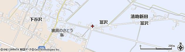 山形県寒河江市清助新田131周辺の地図