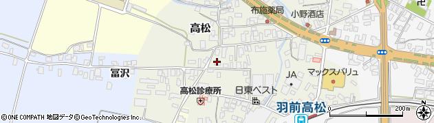 山形県寒河江市高松89周辺の地図