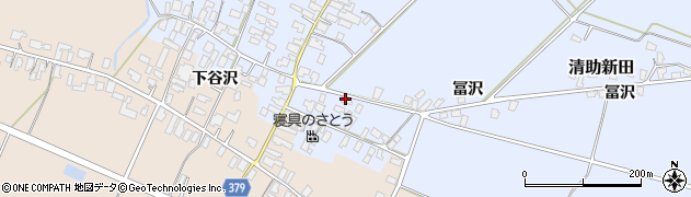 山形県寒河江市清助新田91周辺の地図