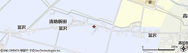 山形県寒河江市清助新田251周辺の地図