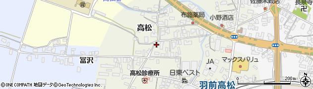 山形県寒河江市高松88周辺の地図