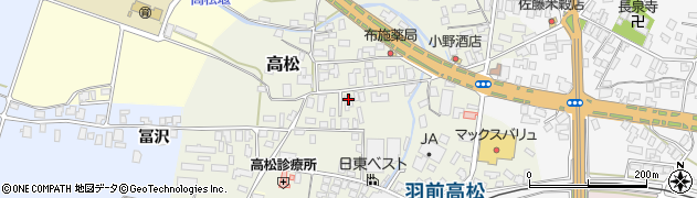 山形県寒河江市高松94周辺の地図