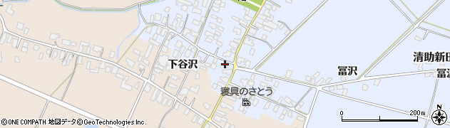 山形県寒河江市清助新田44-2周辺の地図
