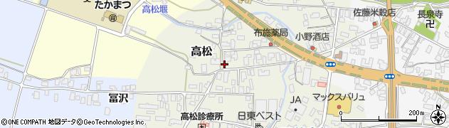 山形県寒河江市高松80周辺の地図