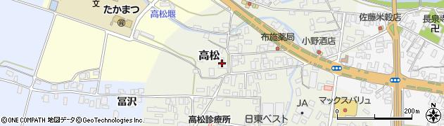 山形県寒河江市高松37周辺の地図