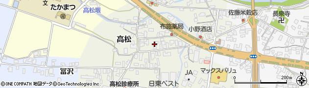 山形県寒河江市高松82周辺の地図