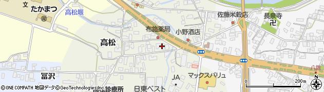 山形県寒河江市高松86周辺の地図