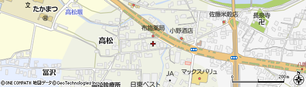 山形県寒河江市高松85周辺の地図
