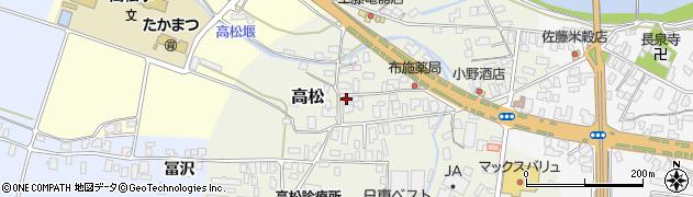 山形県寒河江市高松78周辺の地図