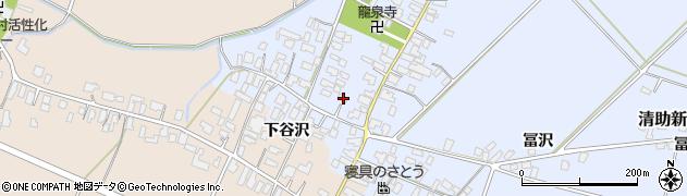 山形県寒河江市清助新田周辺の地図