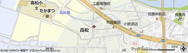 山形県寒河江市高松64周辺の地図