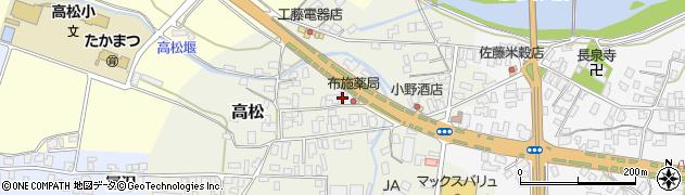 山形県寒河江市高松74周辺の地図