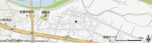 山形県寒河江市八鍬52周辺の地図