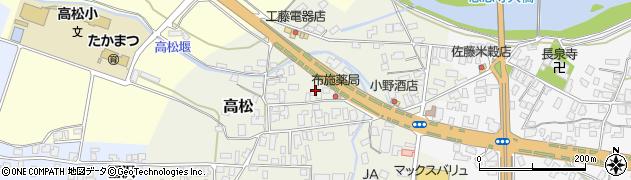 山形県寒河江市高松72周辺の地図