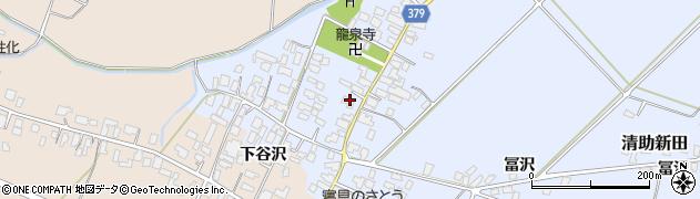 山形県寒河江市清助新田35周辺の地図