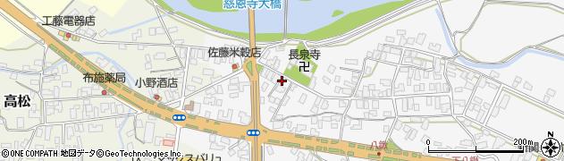 山形県寒河江市八鍬568周辺の地図
