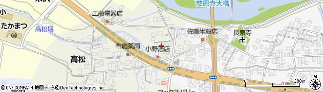 山形県寒河江市高松197周辺の地図
