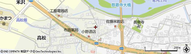 山形県寒河江市高松200周辺の地図