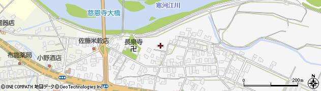 山形県寒河江市八鍬21周辺の地図