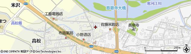 山形県寒河江市高松210周辺の地図