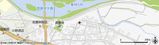 山形県寒河江市八鍬24周辺の地図