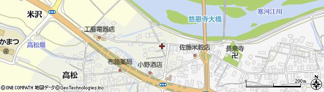 山形県寒河江市高松193周辺の地図