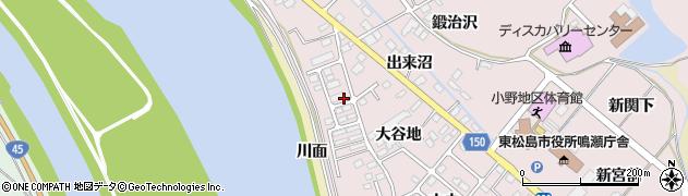 鳴瀬中央住宅周辺の地図
