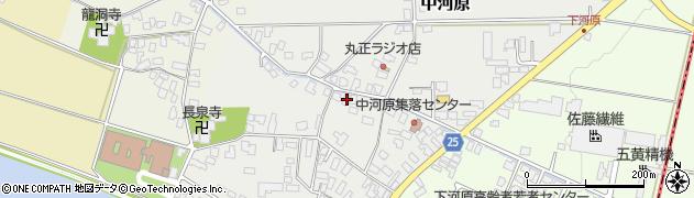 山形県寒河江市中河原58周辺の地図