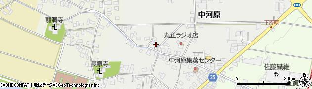 山形県寒河江市中河原101周辺の地図