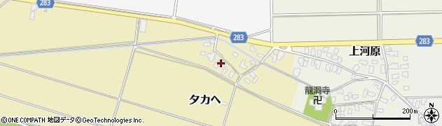 山形県寒河江市夕カヘ137周辺の地図