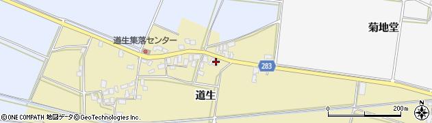 山形県寒河江市道生188周辺の地図