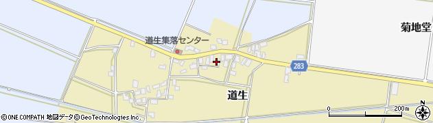 山形県寒河江市道生182周辺の地図