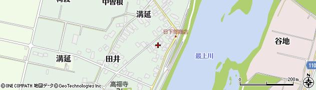 山形県西村山郡河北町田井中宿周辺の地図