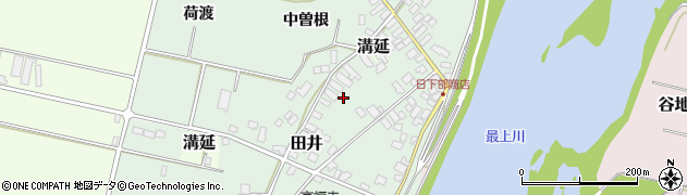 山形県西村山郡河北町田井中曽根周辺の地図