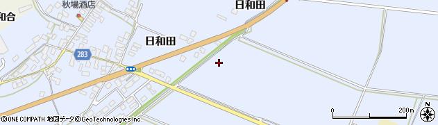 山形県寒河江市日和田日和田沖周辺の地図