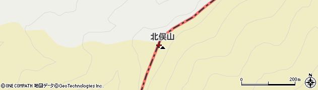 北俣山周辺の地図