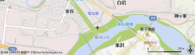 山形県寒河江市白岩7周辺の地図