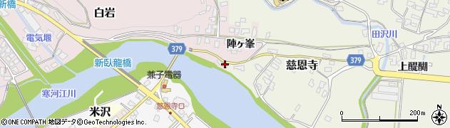 山形県寒河江市白岩2993周辺の地図